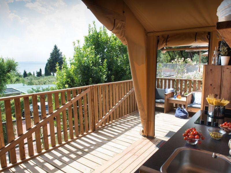 La Rocca - Glamping - safaritent veranda