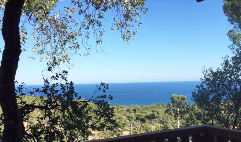 Uitzicht vanaf veranda Safaritent bij Cala Gogo - Cala Gogo