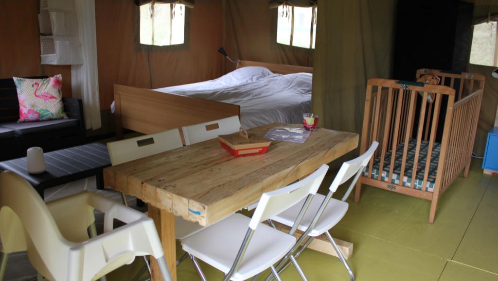 safaritent nunspeet binnenkant