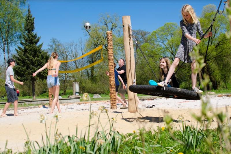 outdoor camping barvaux beachvolleyball