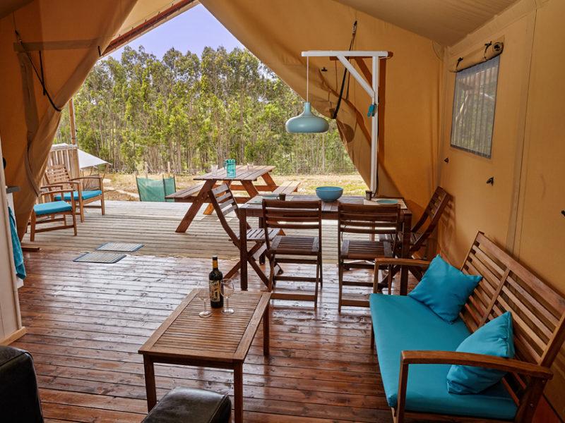 Uitzicht vanuit woonkamer safaritent - Terra dos Anjos