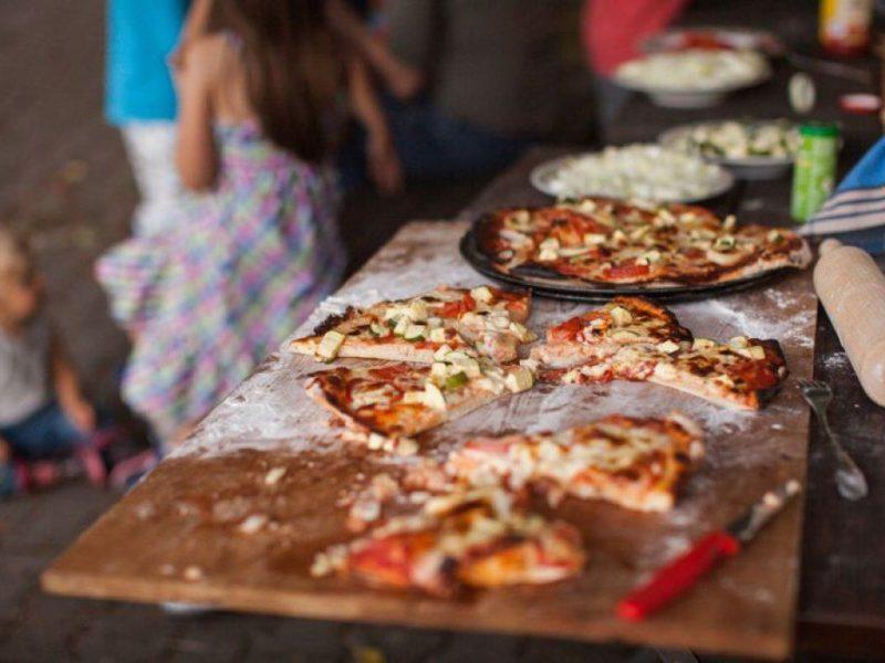 Arche Hof Dengler, zelfgebakken pizza's