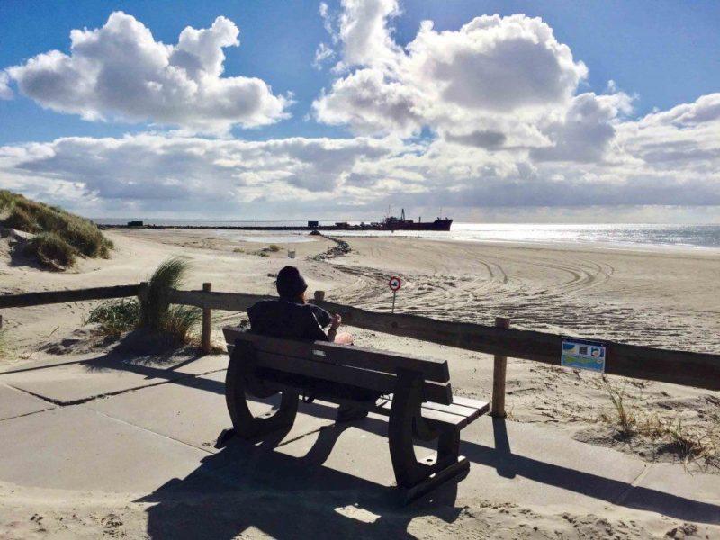 Uitzicht vanaf het Amelandse Strand
