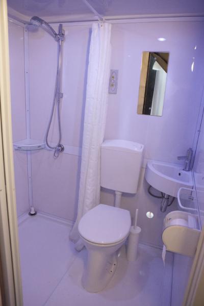 Safaritent Scholtenhagen, eigen sanitair
