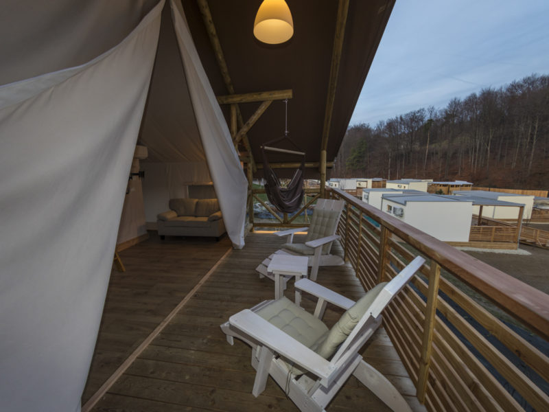 Glamping Sun Valley Bioterme, Terras Tent