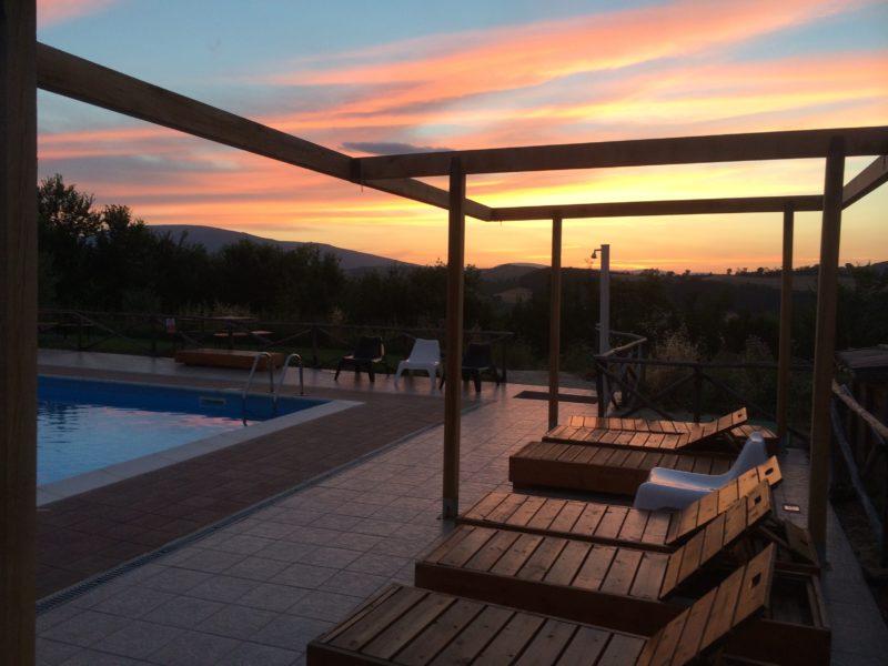 Villa Ti Amo bij zonsondergang