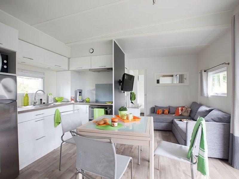 Le Fief - glamping - stacaravan Luxe interieur