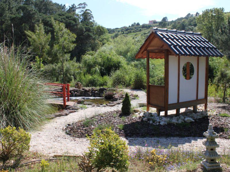 Quinta Japonesa, het meditatiehuisje in de Japanse tuin