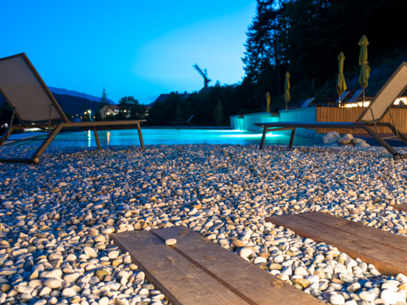 Skok Swimming Pool by night