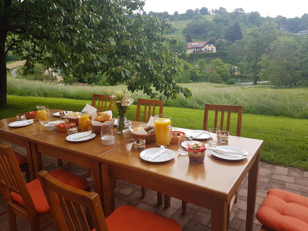 Ontbijt Glamping Ramsak - Glamping in Slovenië