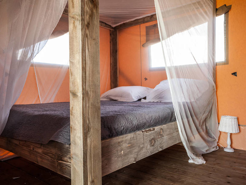 Slaapkamer safarilodge