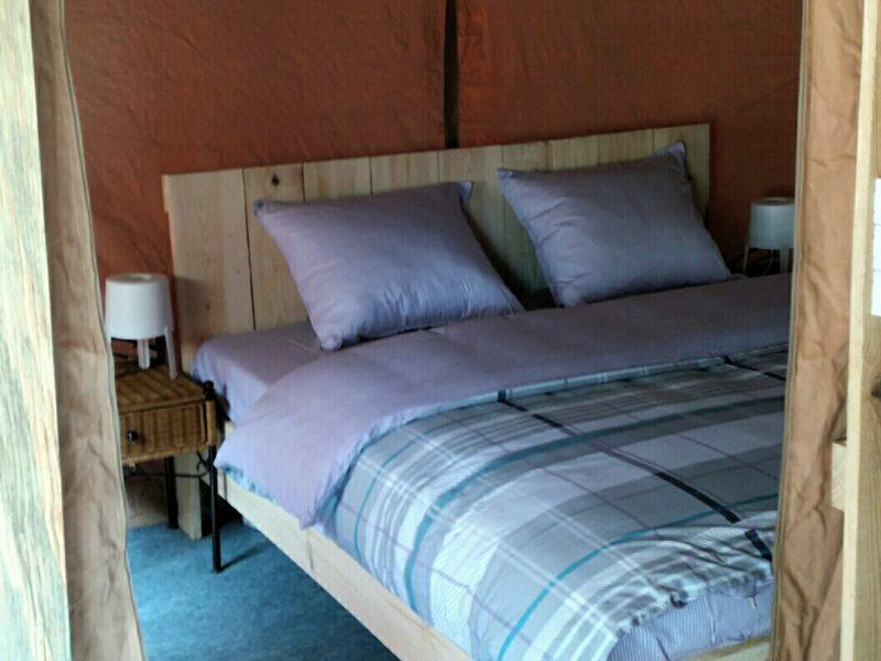 Quinta do Castanheiro - Glamping - slaapkamer in de tent