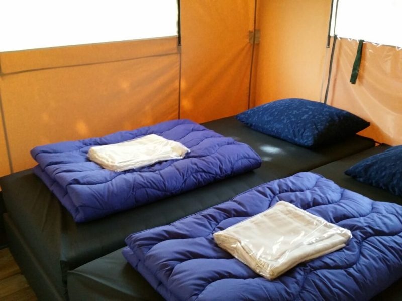 Klaverweide - slaapkamer safaritent - Glamping