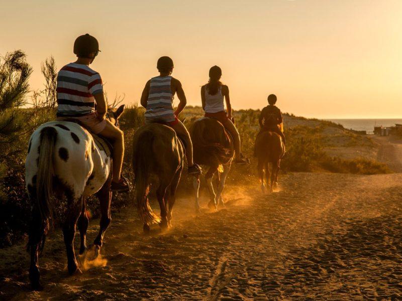 Glamping - Atlantic club montalive - paardrijden