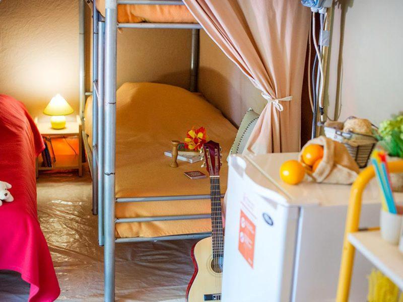 Glamping - La Boissiere - kinderslaapkamer