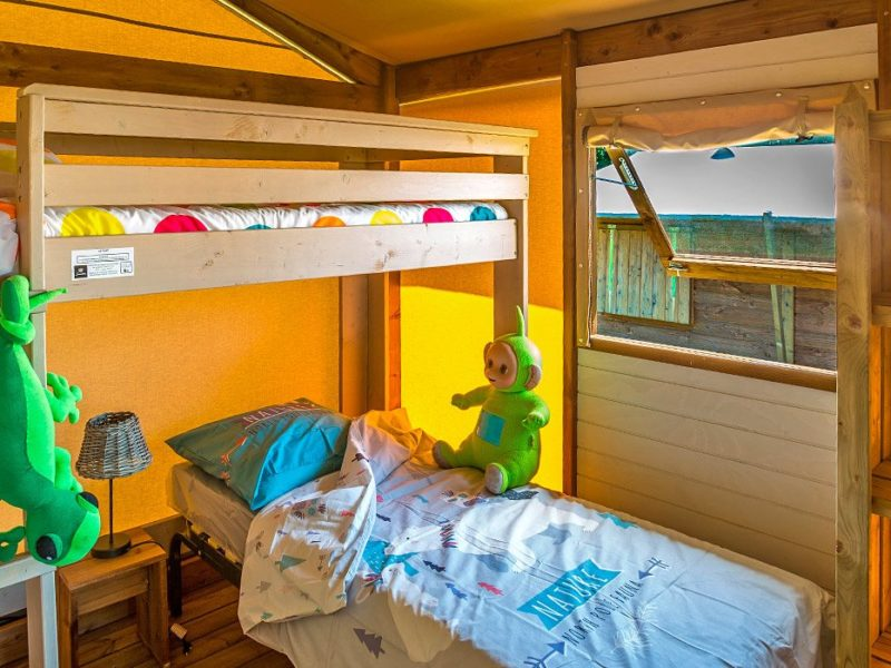 Glamping - Le Castellas - kinderslaapkamer