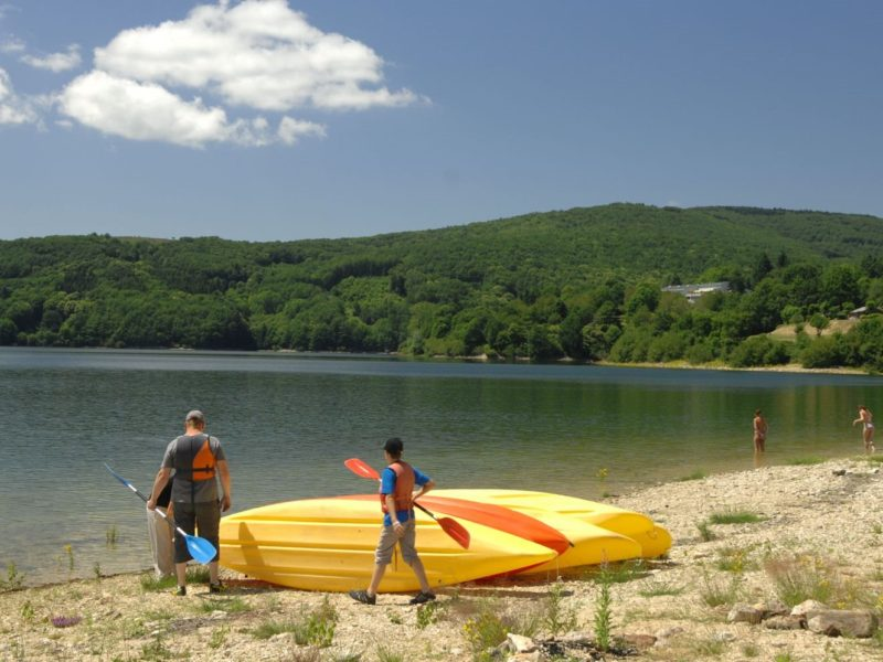 Glamping - Rieumontagné - kanovaren op het meer