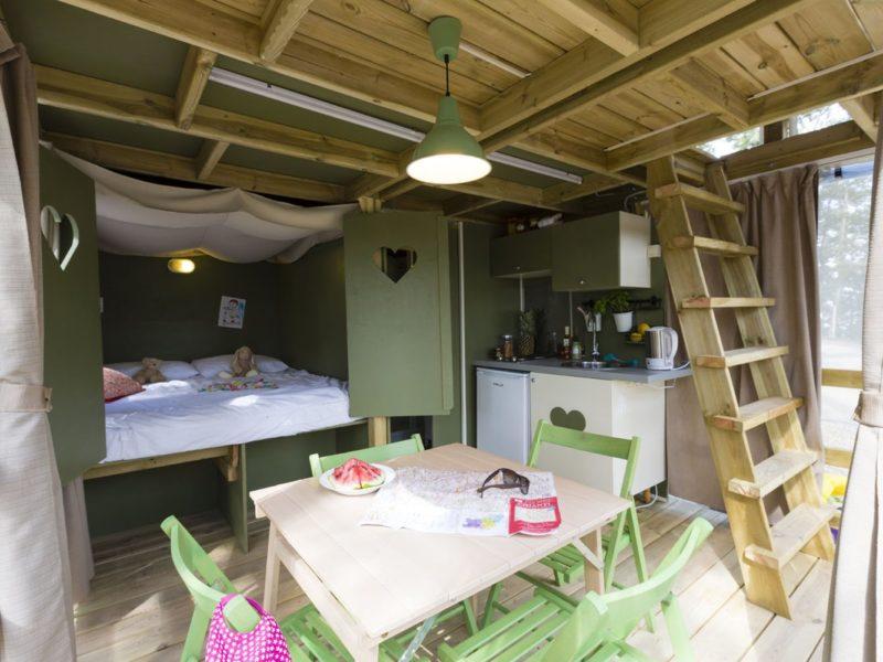 Glamping - Romagna camping village - keuken airlodge