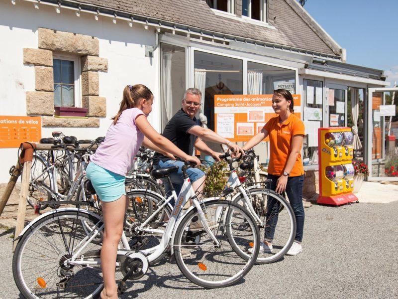 Glamping - Saint Jacques - fietsen huren op de camping