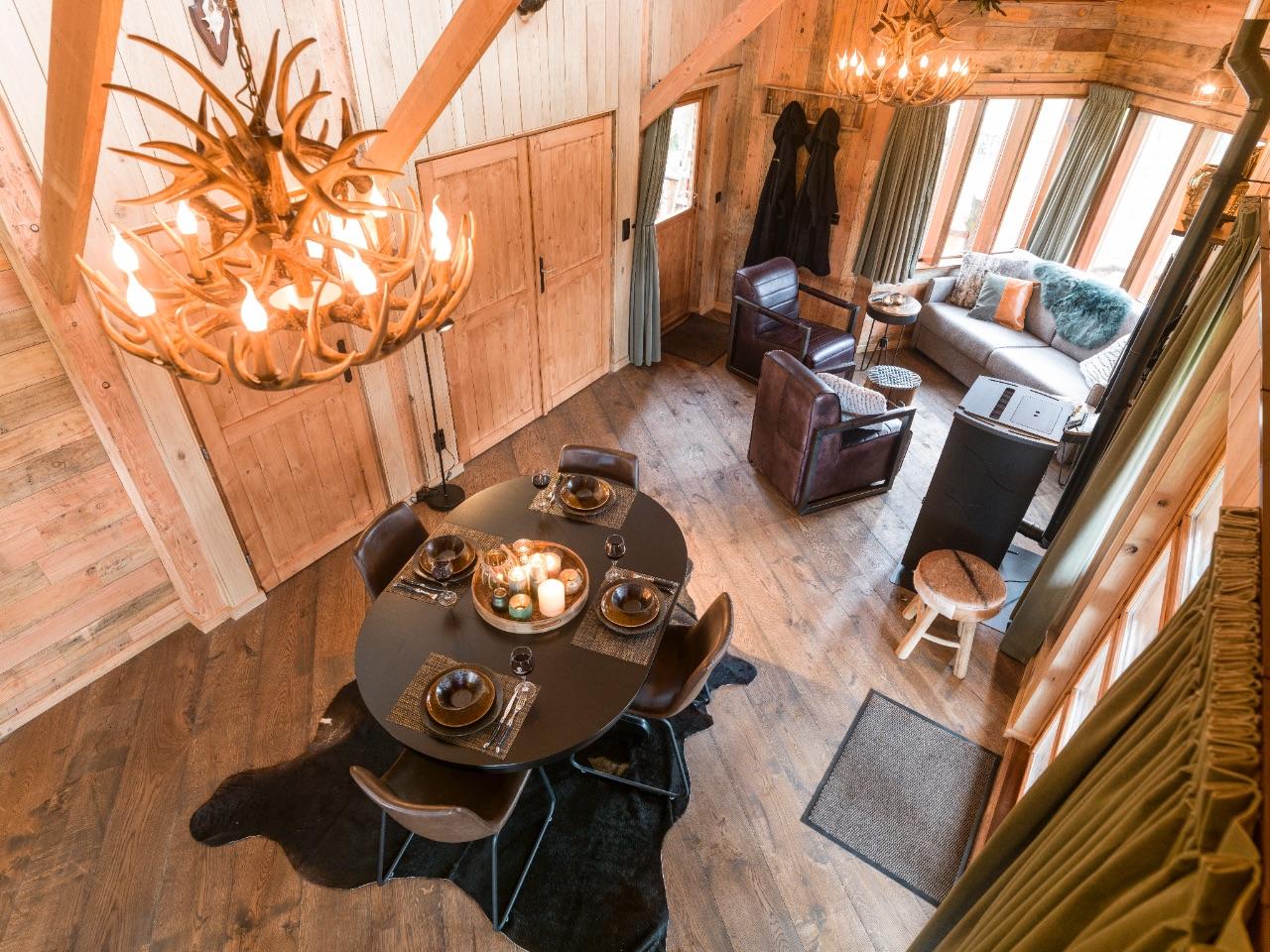 Glampingaccommodaties op Westerbergen - luxe boomhut
