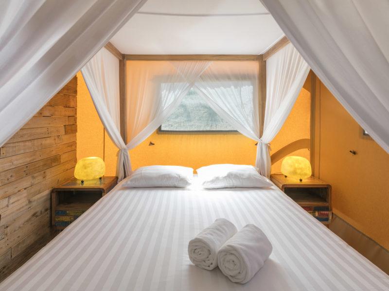 Slaapkamer glamping tent - Casa Tuia, glamping.nl