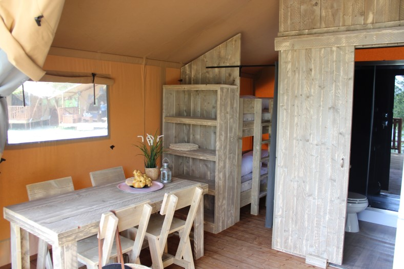 Inrichting safaritent - Le Pearl, glamping.nl