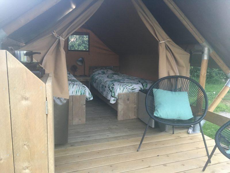 Aanzicht safaritent - Camping- & Hertenboerderij De Weerd