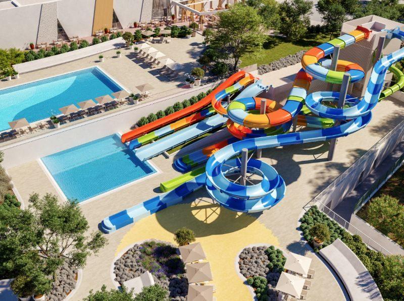 Overzicht zwembad + Aquapark - Istra Premium Glamping resort, glamping.nl