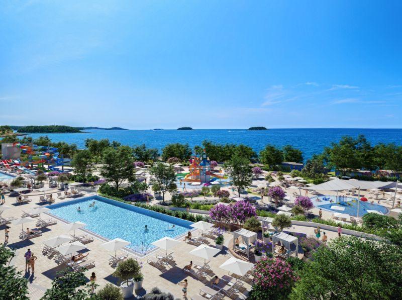Overzicht zwembaden + uitzicht - Istra Premium Glamping resort, glamping.nl