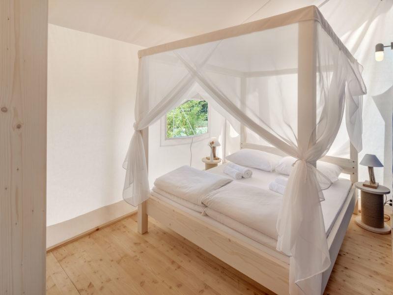 Inrichting slaapkamer glamping - Istra Premium Glamping resort, glamping.nl