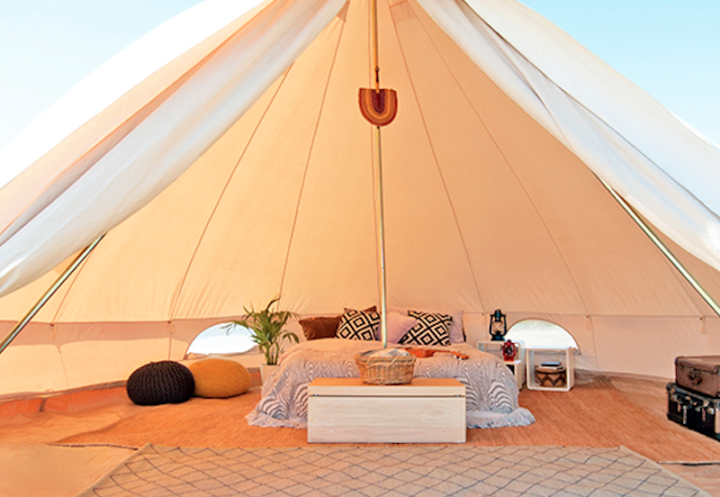 Inrichting Tipi Tent Italy - Luna del Monte, glamping.nl