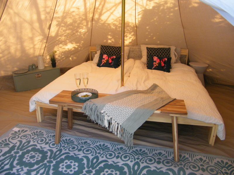 2 persoonsbed tipi tent - Luna del Monte, glamping.nl