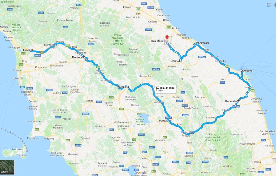 roadtrip toscane