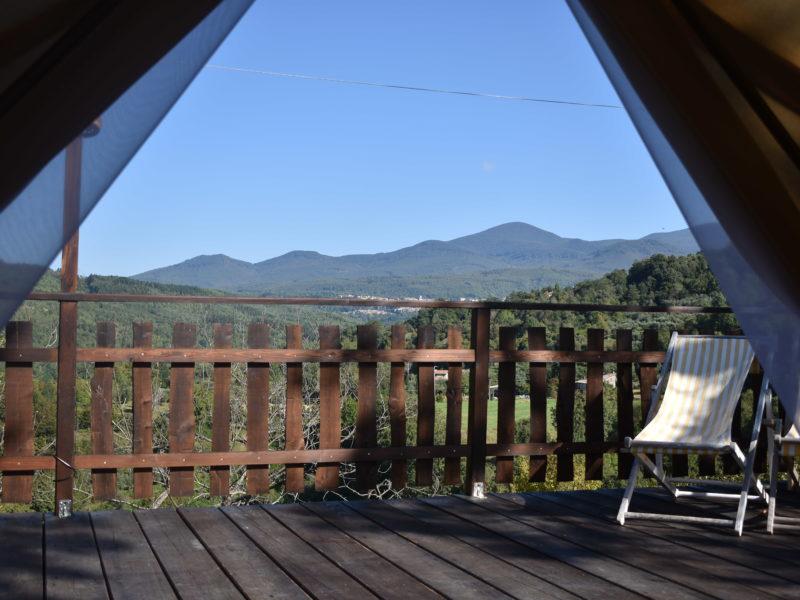 uitzicht tenda Chestnut - Podere di Maggio - Glamping