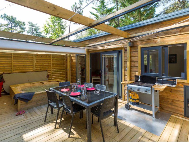 luxe lodges op Domaine Presqu'Île de la Franqui - Majestic Lodge