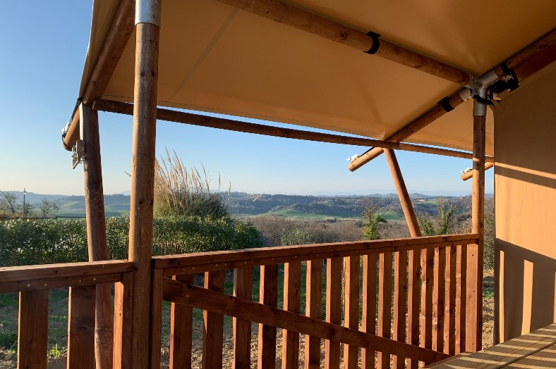Uitzicht safaritent - L'Antica Forance - Glamping