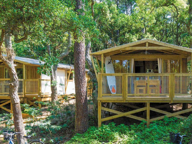 luxe lodges op Domaine Presqu'Île de la Franqui - Lodge Tente