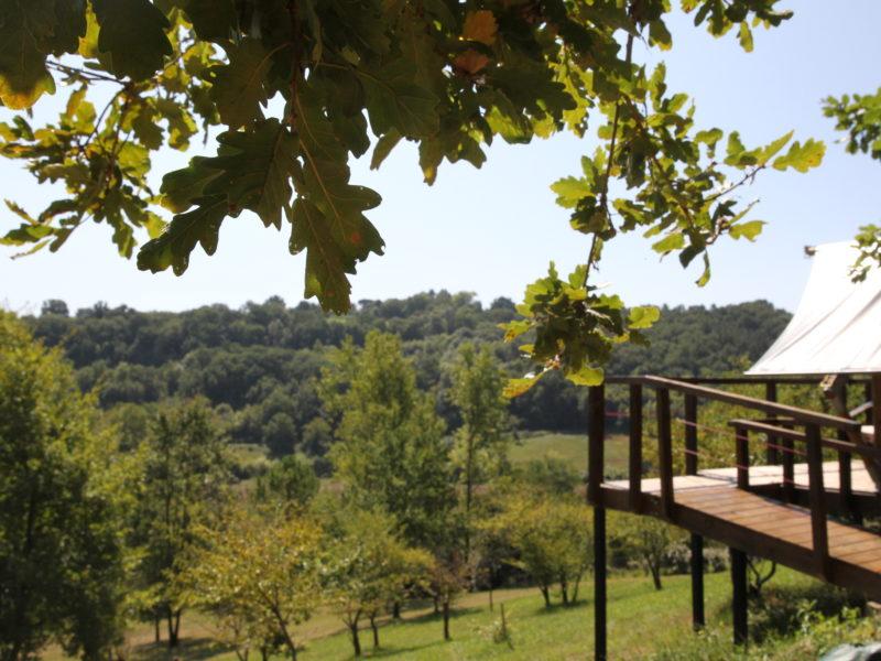 Uitzicht Safaritent - Petit Piquepe