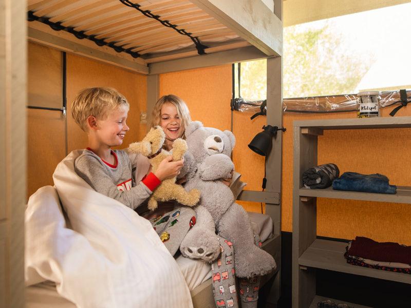 Slaapkamer kinderen villatent - Campeggio Del Garda, Glamping.n