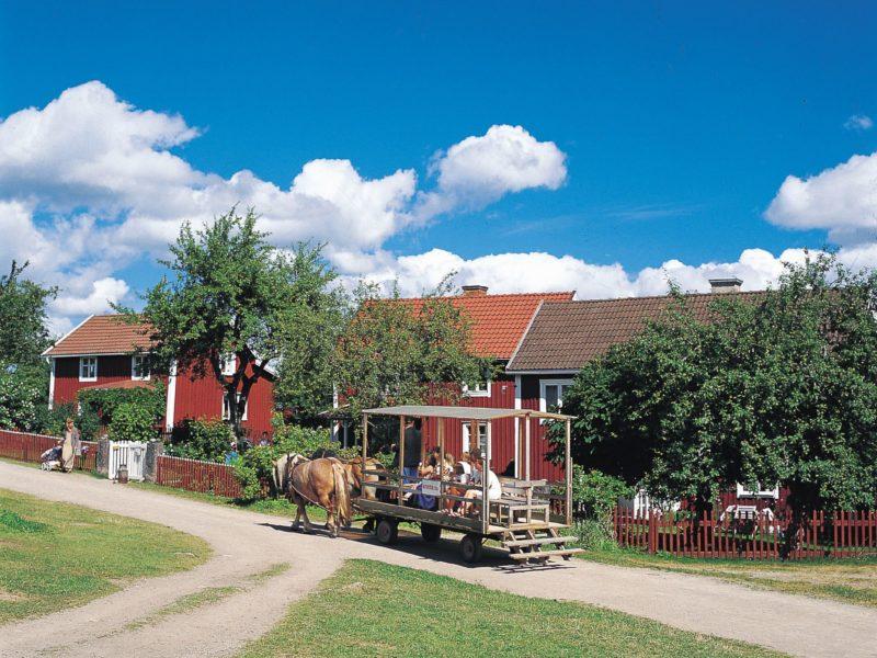Huifkartocht - Småland Gården, Glamping.nl