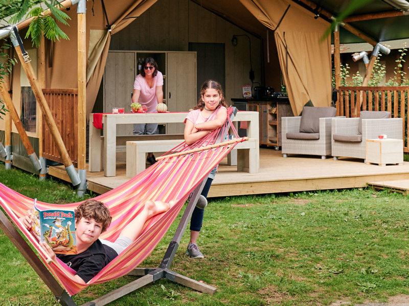 Terras luxe Villatent - Villatent Il Poggetto, glamping.nl