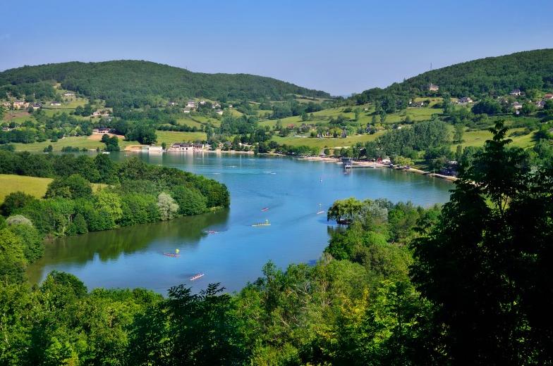 Uitzicht op Lac du Causse