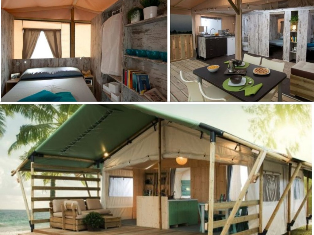 Lodgetent country - collage glamping Santa Marina Camping Boutique, glamping.nl