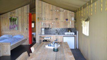 Keuken safaritent - De Lente van Drenthe, glamping.nl