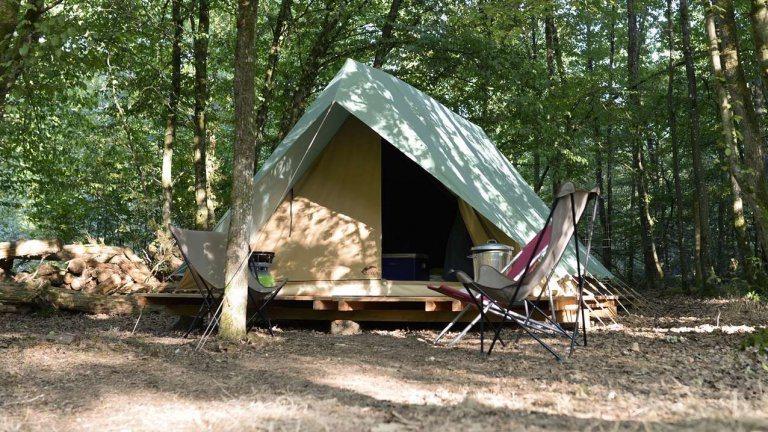 Safaritent Bonaventure - Huttopia Camping Rambouillet, glamping.nl