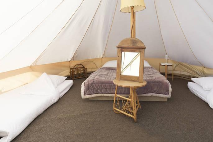 Binnenkant Bell tent - Bot-Conan Lodge