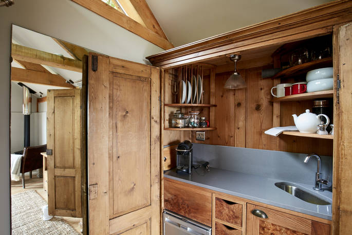 Keuken Oakdown Treehouse via Glamping.nl
