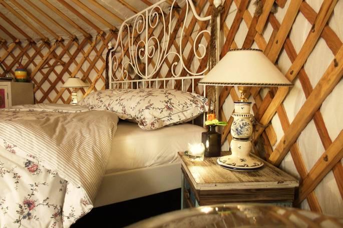 Slaapkamer Leccio del Corno Yurt