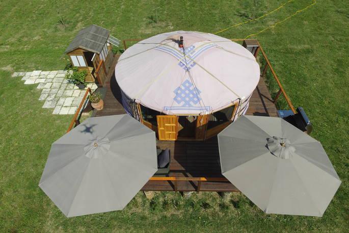 Yurt van boven - Leccio del Corno Yurt