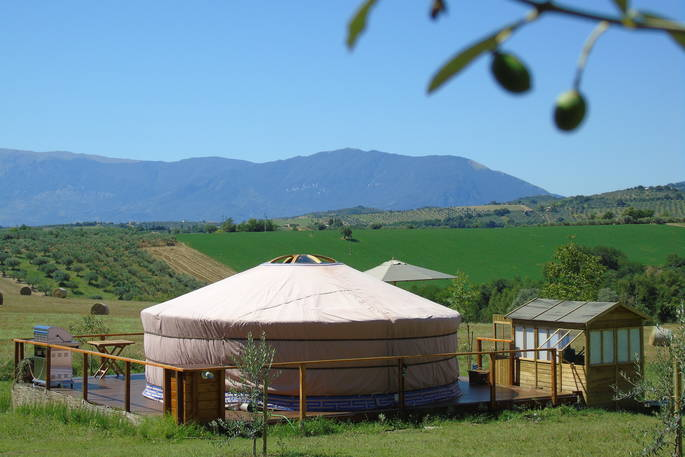 Yurt in landschap - Leccio del Corno Yurt